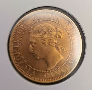 1901 CANADA LARGE CENT PENNY LARGE 1 CENT COIN *AMAZING RED*UNC*