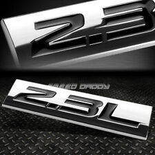 METAL GRILL TRUNK EMBLEM DECAL LOGO TRIM BADGE POLISHED CHROME BLACK 2.3L 2.3 L