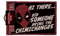Official Licensed Deadpool Doormat - 100% Coir Rubber Back Door Mat - Marvel