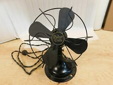 "Vtg 20s 30s A.C. Gilbert polar cub electric fan black 8"" cast metal Works 11"""