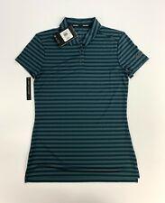 New Women's XS Nike Dri-Fit Stripe Polo Golf Shirt Green 884867 372  $55