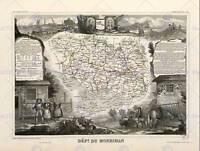 MAP OLD FRANCE LEVASSEUR MORBIHAN DEPARTMENT POSTER ART PRINT BB12065B