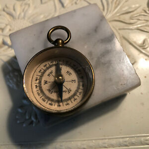 Vintage WWII  Brass Compass Pendant Made in Germany