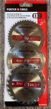 "Porter-Cable 3 Pk Circular Saw Blades 3 1/2"" Multi-Cutter Saw Blades PC338MULTI"