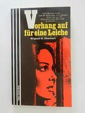 Mignon G Eberhart Vorhang auf für eine Leiche Roman Krimi Scherz Verlag +