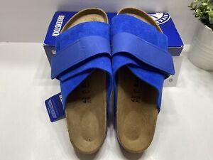 Birkenstock Kyoto Ultra Blue Unisex Leather Slide Sandals Regular Fit 42 M9/W11