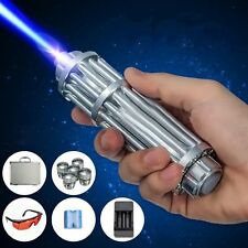 US STOCK High Power Blue Laser Pointer Burning Light 450nm Beam Pen 5mW+ 5 Caps