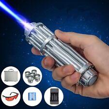 USA Stock High Power Blue Laser Pointer Burning Light 450nm Beam Pen 5mW+ 5 Caps