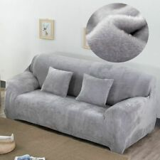 Sofa Cover Plush Fabric Velvet Cloth Thick Slipcovers Keep Warm Funiture Protect