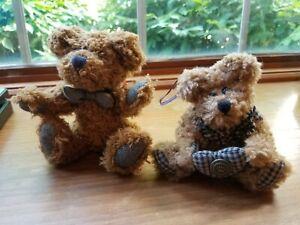 Two Vintage Boyd's Bears from 1990's Woodruff K Bearsford & Bearware W tags