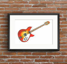 George Harrison's 1964 Rickenbacker 360/12 - POSTER PRINT A1 size