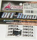 Atomic R/C Racing Products Titanium Rear Spindles Carriers 2° 1/36 Micro T