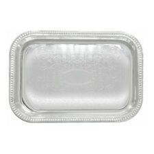 Winco Cmt-1812, 12.4Ñ…18.1Ñ…0.8-Inch Chrome Plated Oblong Serving Tray with Engrav
