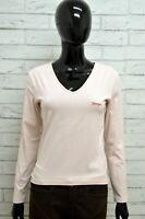 Maglia Donna WRANGLER Maglietta Taglia Size XL Shirt Woman Manica Lunga Slim