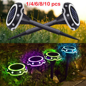 LED Solar Decking Lights Outdoor In ground Lights Pathway Patio Garden Lawn Lamp
