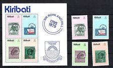Kiribati Sir Rowland Hill phrase + bloc tamponné **