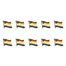 "LOT OF 10 BEAR PRIDE FLAG LAPEL PIN 0.5"" Hat Tie Tack Badge LGBT Gay Brotherhood"