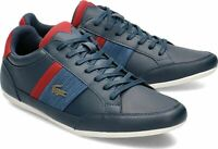 Lacoste Chaymon 120 4 US Mens Casual Navy Dark Red Fashion Shoes 39CMA0012-5A5