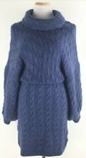 NWT Free People Womens S Mohair Wool Blend Meant To Be Sweater Dress Blue