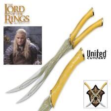 "Lord of the Rings Legolas Greenleaf 22"" Short Swords w Plaque United Cutlery COA"