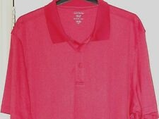 New Short Sleeved Moisture Wiking  Polo Shirt  in Coral Pink Size 3XL
