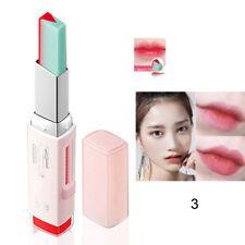 New Long Lasting Two Tone Lipstick Lipgloss Duo Duo Lip Balm Eyeshadow Gradient