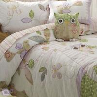 Lulu Ooh Ooh Duvet Doona Quilt Cover Set   Quilted   Owl   Bird   Twin   Single