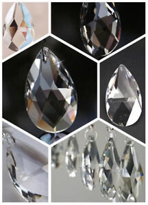 28/38/50/63/76mm Clear Glass Chandelier Crystal Prisms Lamp Parts Teardrop