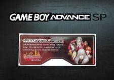 Etiquette Sticker Arrière Castlevania Dawn of Sorrow Game Boy Advance SP GBA SP