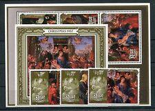 Niue 719/21 Block 111/12 postfrisch / Gemälde - Weihnachten ..............1/1288