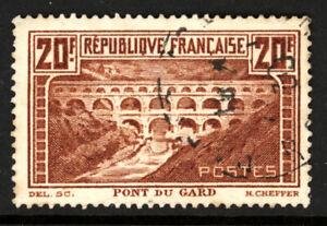 FRANCE SCOTT 253 1931 PONT DU GARD NIMES ISSUE USED VF CAT $40!