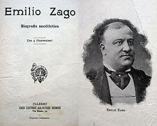 TEATRO SPETTACOLO EMILIO ZAGO BIOGRAFIA CON ILLUSTRAZIONI