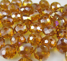 NEW Jewelry Faceted 100 pcs Amber AB #5040 3x4mm Roundelle Crystal Beads DIY X11