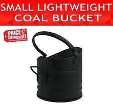 Small Lightweight Black Fireside Metal Coal Bucket Scuttle Fire Log Hod Holder