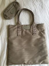 Calvin Klein Monogram print Beige Neutral Tote Bag with matching purse