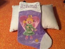 """Angel With Wand Christmas Stocking 16"""" """"Have A Magical Christmas Stocking""""1Purpl"""