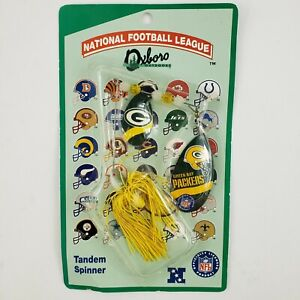 NFL Green Bay Packers Football Fishing Lure Tandem Spinner Bait Blade Oxboro NEW