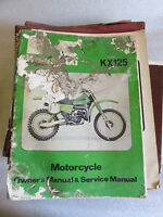 Kawasaki 125 KX KX125 Used OEM Service Owners Shop Manual 1978