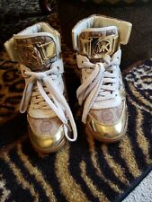 "*MICHAEL KORS*Gold Platform Hightop ""MK"" Brand Sneakers Shoes 7.5M"