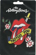ROLLING STONES tattoo you 2013 shaped EMBROIDERED - SEW/IRON ON PATCH sealed NEW