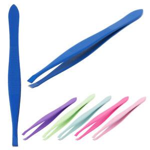 New 1PC Stainless Steel Tweezers Eyebrow Tweezers Eyebrow Clip 6 Colors Tool