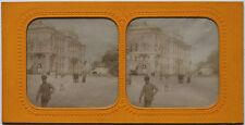 Rarität 1870s kolorierte Albumin Stereoaufnahme WIEN Palais du Lloyd