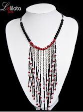 Endlos Halskette Kette Collier Kollier Glasperlen Koralle Perlen Lolilota Paris