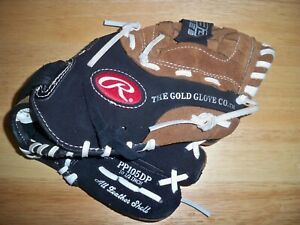 "RAWLINGS  SAVAGE  Kids Baseball glove 10.5"" PP105DP Right Handed Throw  EUC"
