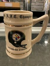 1979 A.F.C. CHAMPIONS PITTSBURGH STEELERS PLAYER ROSTER CERAMIC MUG RARE