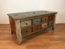 Coffee table/cocktail table 8 drawers & hinged top storage on other side