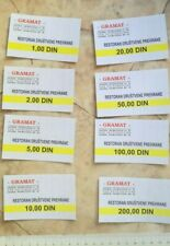 YUGOSLAVIA CROATIA wholesaler TRADE restaurant LOT COUPON VOUCHER DINAR ZAGREB