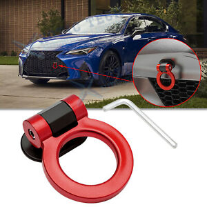 JDM Red Track Sport Style ABS Dummy Tow Hook Ring Bumber Decoration For Lexus IS