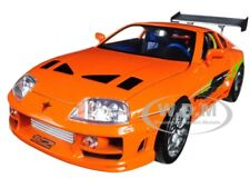 "BRIAN'S TOYOTA SUPRA ORANGE ""FAST & FURIOUS"" MOVIE 1/18 DIECAST BY JADA 97505"