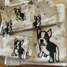French Bulldog Boston Terrier Bath Towel Set Hand And Face